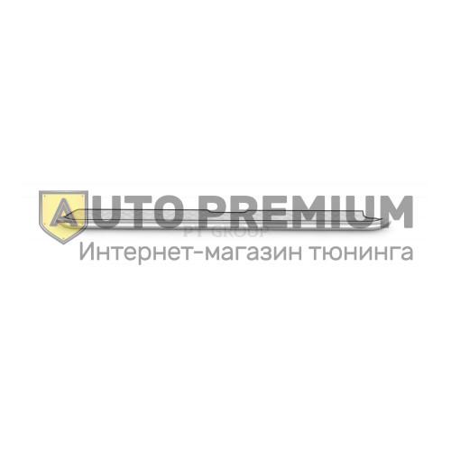 Защита порогов с алюминиевой площадкой Ø51мм (НПС) УАЗ Патриот с 2014
